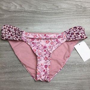 Lucky Brand Pink Gypsy Floral Bikini Bottom